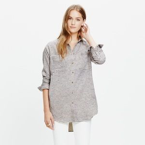 Madewell flannel sunday shirt in stripe