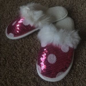 Other - Pottery Barn Teen sequin Slippers NWOT