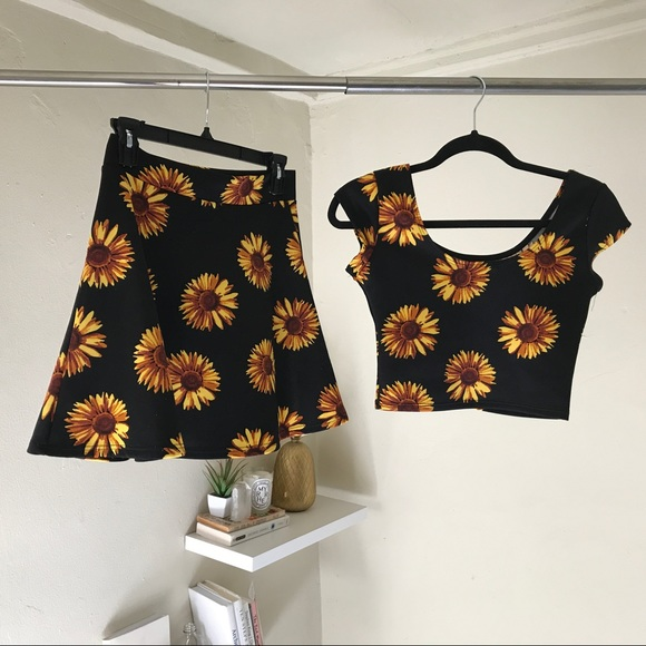 031d61957a3d Dresses & Skirts - Sunflower two-piece outfit skirt and crop top