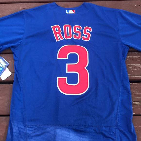 ac8aaa04167 Men s David Ross Cubs World Series Road Jersey XL