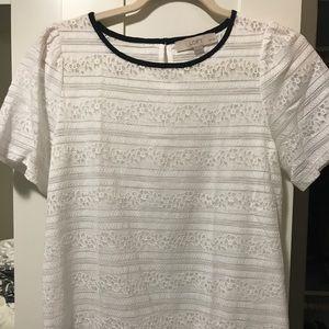 Loft white lace blouse XSP