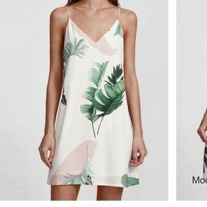 Palm Leaf Print Cami Dress
