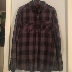 Dark purple long sleeve button down