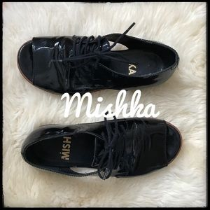 Mishka Patent Leather Open Toed Brogues - 6