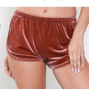 Copper-Pink Velvet Short