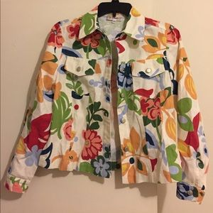 Multicolor Floral Print Jacket