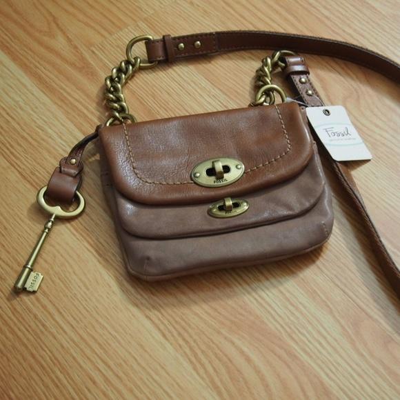 4cbca36970 Fossil Bags | Mason Small Flap Mini Crossbody Bag Camel | Poshmark