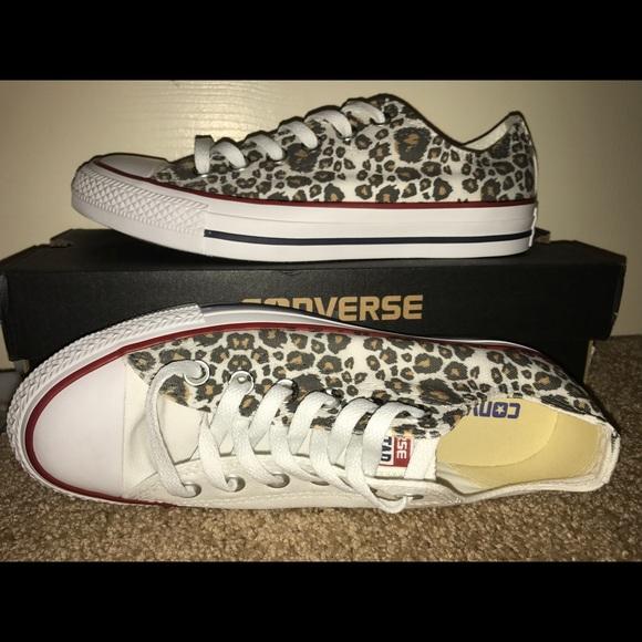 8e1d71470beb0 Cheetah Converse - Custom Made Size: Women's 7