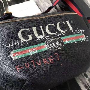 55fc6772708cf5 Gucci Bags | Coco Capitan Logo Belt Bag Black | Poshmark