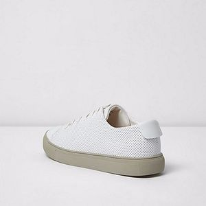 River Island Shoes - River Island White Perforated Sneakers BNIB