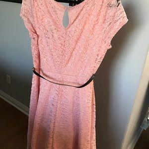 Torrid, SIZE 1 pink sparkly skater dress.