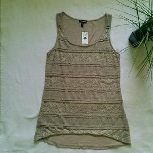 NWT Express Lace Front Tank Top, Small