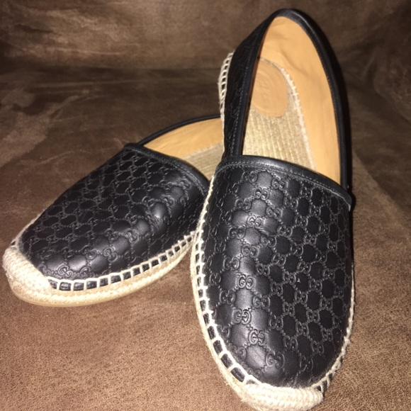 Gucci Signature leather espadrilles AsWWqANLP