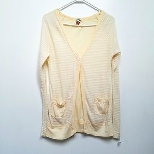 Free People Yellow Cardigan
