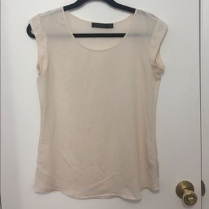 The Limited Sheer Cream Top