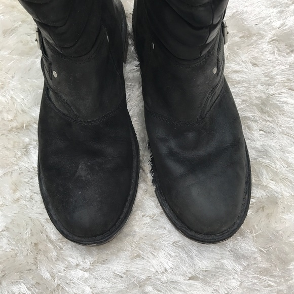 ugg tatum leather biker boots