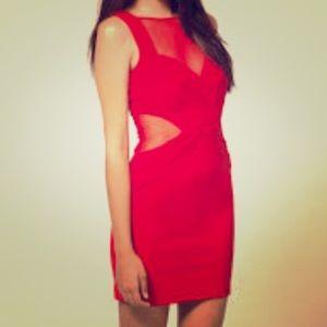 Lipsy Mesh Illusion Dress