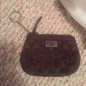 Authentic coach wallet key chain pouch