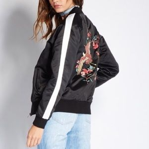 Jackets & Blazers - Embroidered Bomber Jacket