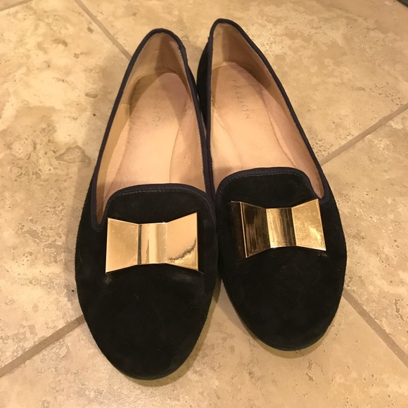 Pazzion Shoes - Pig skin loafers with metallic bow