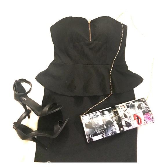 Charlotte Russe Dresses & Skirts - Charlotte Russe black peplum mini dress