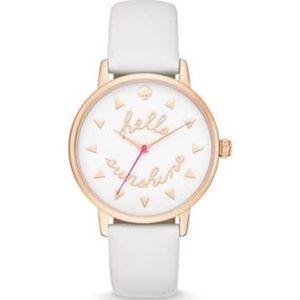 NWOT Kate Spade Hello Sunshine Leather Watch