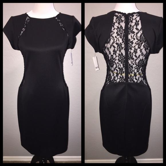 95a9936124 Bar III Black Lace Body-Con Midi Dress