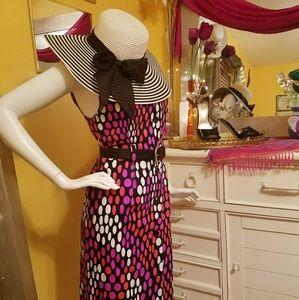 Dresses & Skirts - Vintage late 60's Amazing OP-ART MIDI Dress