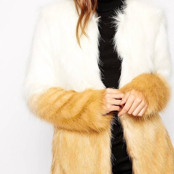 3a09643f37f6 Asos Jackets & Coats | Urbancode Faux Fur Jacket In Ombr Effect ...