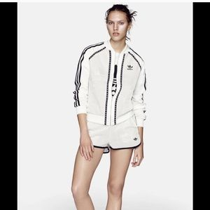 Adidas Originals leather superstar track jacket
