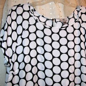 B&W Polka Dot Top