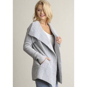 RESTOCKED Open Front Double Breasted Knit Cardigan