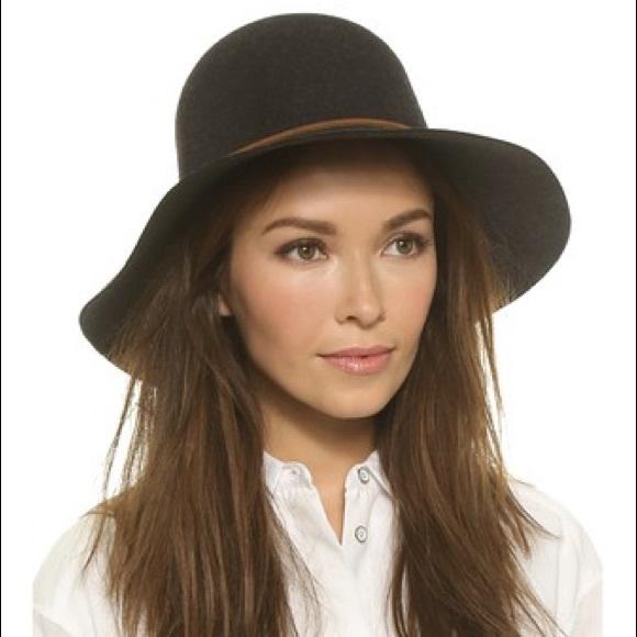 396d0e46451 Rag   bone floppy wool Dunaway hat w  leather trim