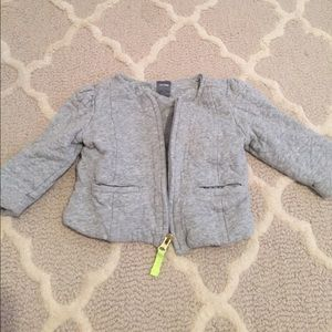 Baby gap gray quilted jacket sz 12-18 months