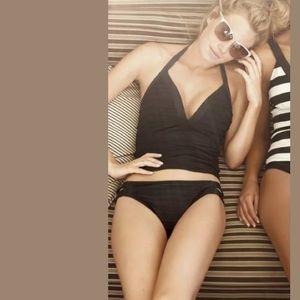 6ae15b415554b La Blanca Swim - LA BLANCA Ribbed Textured Halter Tankini Swim Top