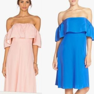 Amanda Uprichard Rosa Ruffle Off Shoulder Dress