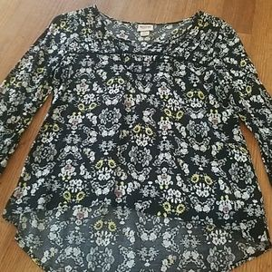 Tops - High low floral top