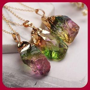 Natural Crystal Chakra Necklace