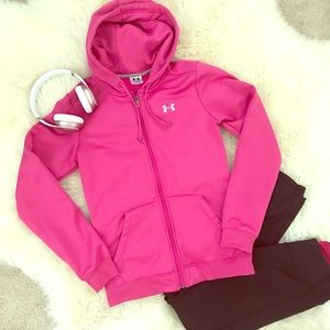 Under Armour Pink Zip Hoodie