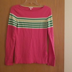 Pink and green light weight Lilly Pulitzer sweater