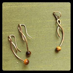 Jewelry - ⭐️5/$25⭐️2-piece earring&Pendant silver tigereye