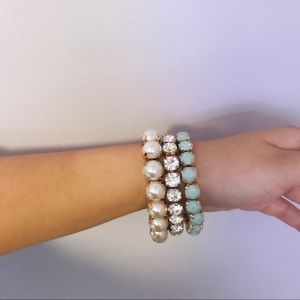 Jewelry - Mint Pearl Bracelet Set