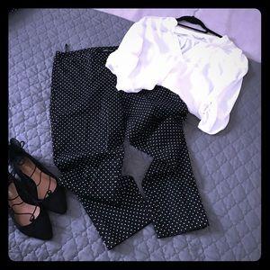 Pants - Black pants with white polkadots dressy.