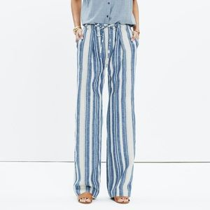 Madewell Striped Lawndale Wide-leg Pant