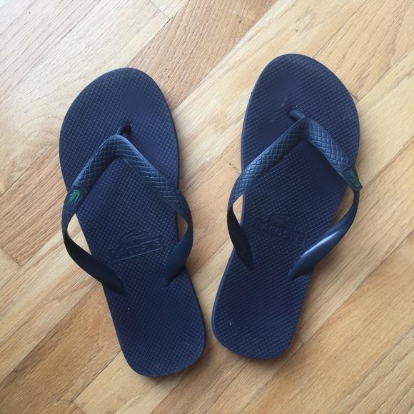 Lacoste Shoes   Mens Lacoste Flip Flops