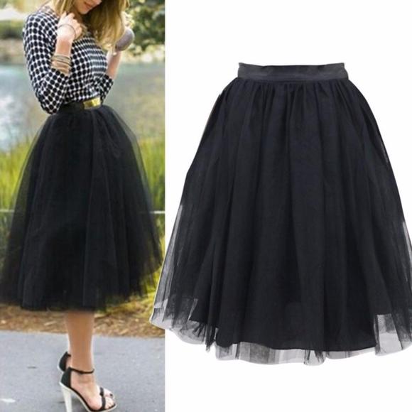 Bellanblue Dresses & Skirts - CINDY Tulle skirt  - BLACK