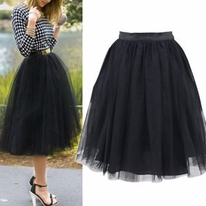 CINDY Tulle skirt  - BLACK