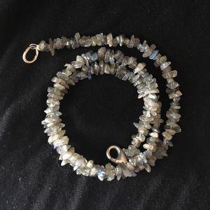 Jewelry - Iridescent Grey Stone Necklace