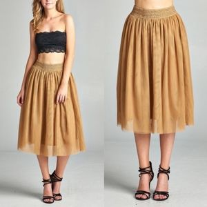 CINDY Tulle skirt  - MUSTARD