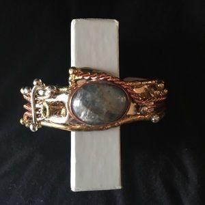 Jewelry - Labradorite Three-Toned Cuff